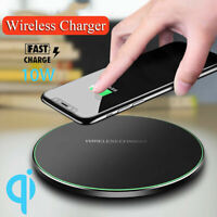 QI Wireless Charger Fast Charging Pad Dock For Apple iPhone 8 Plus X XS Samsung