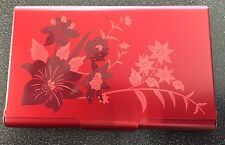 Business/Gift Card Case-Flip Case-Tuscany Bouquet #2448 Red Wellspring RFID