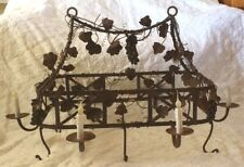 Vintage Pot Hanger & Light, Grape & Leaf French Country Gorgeous