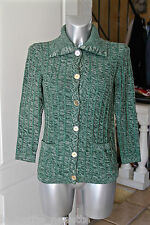 luxurious wool vest green buttons golden CELINE PARIS size 38 MINT