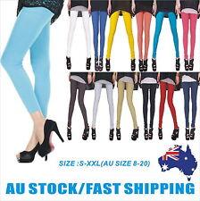 Women Full Length Soft Strentch Leggings  S-XXL Au Size 8-20 Black/White/Red