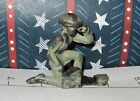 Vintage Manoil, Barclay, or Log Cabin Lead Toy KNEELING SOLDIER MADE  RADIO CALL