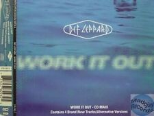 DEF LEPPARD WORK IN OUT MAXI CD 4T