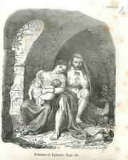 Julius Sabinus et Éponine de Langres & Jumeaux la grotte en Gaule GRAVURE 1851