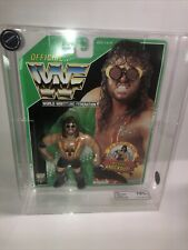 WWF 💥ADAM BOMB 💥VINTAGE Hasbro Graded Moc Figure Green Card  Afa Ukg Fg