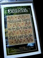 "Silver Creek Samplers - ""47 HEARTS"" NEW Cross Stitch Chart Only"