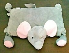 Little Miracles Plush Elephant Gray Pink Pillow Snuggle Me Costco No Blanket