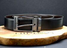 Hugo Boss Reversible Classic Mens Leather Jeans Belt Black Brown Size 36