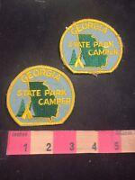 Vintage Lot Of 2 Georgia State Park Camper  Patch 91WJ