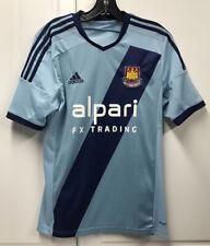 Adidas West Ham United Soccer Jersey Away Shirt Mens Blue Small S Futbol