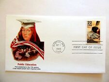 """October 1st, 1985 """"Public Education"""" First Day Cover"""