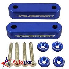 Brand New Blue JDMSPEED Hood Spacer Risers Kit Set For Acura Integra Honda Civic