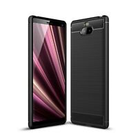 For Sony Xperia 10 Case Carbon Fibre Gel Cover Ultra Slim Shockproof