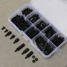 180PCS M3 Nylon Black Hex M-F Stand off Set Spacers/ Screw/ Nut Assorted Kit Box