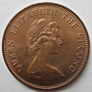 NICE FALKLAND ISLANDS 1980 QUEEN ELIZABETH II BRONZE TWO CENTS COIN (KM# 3)