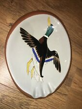 """Stangl Pottery Ashtray Duck Pattern Mid Century 10.5"""" Long"""