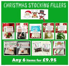 x6 Xmas Stocking Fillers MIX & MATCH  MAGIC DUST • GRINCH PILLS • SNOWMAN KISSES