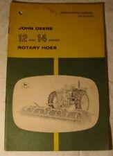Vintage John Deere Model 12 & 14 Rotary Hoe Operator Owner Manual Book