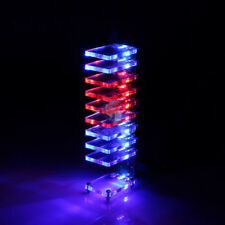 Colorful LED Dream Crystal Electronic Column Light Cube Music Voice Spectrum DIY