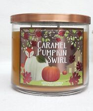 Bath & Body Works Home CARAMEL PUMPKIN SWIRL 3-Wick Candle 14.5 oz