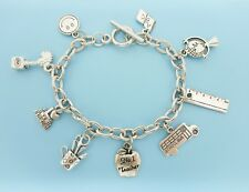 Teacher Bracelet School Silver Charm Bracelet Gift for Teacher