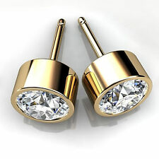 14K Yellow Gold Earring Stud 1.00ct Diamond Earrings Stud Earring For Girls 313