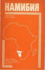 Namibiya Karta 1982 Karte Namibia russisch map russian Deutsch-Südwestafrika