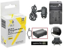 Hi-Capacity EN-EL15 Li-Ion Battery & 110/220V AC/DC Charger for Nikon