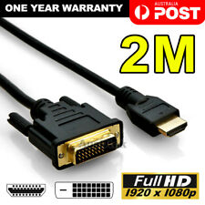 2M Gold HDMI to DVI-D 24+1 Pin Digital Cable Lead HDTV BluRay PS3 Xbox 360 TV