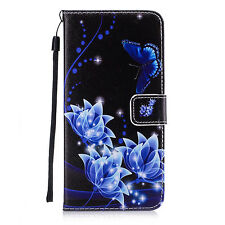 Flip Stand PU Leather Phone Case ID Card Holder Lanyard Cover For Samsung iPhone