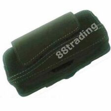 BLACK Horizontal Mobile Phone Leather Case Pouch with Belt Waist Clip VC3 Design