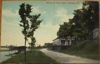 1910 Postcard - 'City Park Drive - Urbana, Illinois IL'
