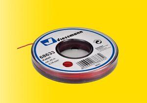 Viessmann 68633 Kabel, 0,14 mm², rot, 25 m, Grundpreis 1 m = € 0,16