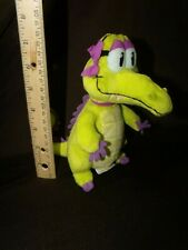 "Disney Where's My Water 7"" Plush ALLIE Alligator stuffed animal neon green"