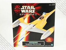 1998 Hasbro Star Wars Episode 1 TPM Electronic Naboo Fighter vehicle MIB