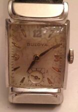 "Vintage 1952 Bulova ""Squadron"" 10K White Gold-filled Men's Watch"