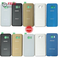 New For Samsung Galaxy S7 S7 Edge Rear Battery Glass Back Door Cover Replacement