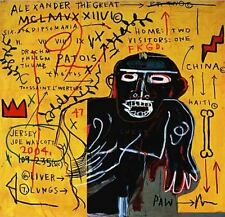 """Jean Michel Basquiat Oil Painting on Canvas All Colored Cast Abstract 24x24"""""""