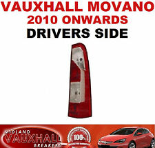 NEW VAUXHALL MOVANO RENAULT MASTER 2010> REAR BACK LIGHT LENS DRIVERS OFF SIDE
