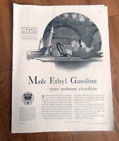 1930 Ethyl Gasoline Ad  Gasoline your Assistant Chauffeur Vintage Automobile