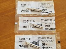 3 x Solder Iron Tips Set Lead-Free for Hakko 936 900M-T-2C + 900M-T-1 + 900M-T-K