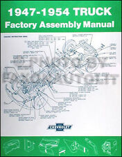1947-1954 Chevrolet Pickup Truck Assembly Manual Chevy Factory 1955 1st series