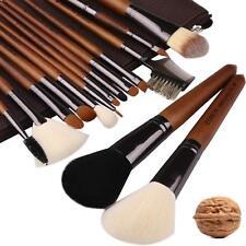 Zoreya Makeup Brushes Premium Real Walnut 15pc High End Makeup Brush Set For Cos