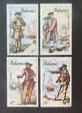 BAHAMAS, SC 625-28, 1987 Pirates of the Caribbean issue, set of 4. MNH. CV $27