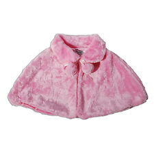 BOLERO Imitación Piel / Poncho Disponible en blanco, rosa de 2 3 4 5 6 7 8 años