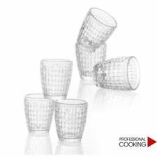 Brandani set 6 bicchieri tavola in vetro bianco per liquori modello Skubidu