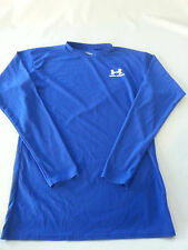 UNDER ARMOUR MENS XLARGE XL blue long sleeve tight fit shirt poyester elastane