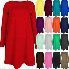 Unbranded Plus Size Long Sleeve Tunic Dresses for Women