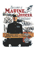 "Vintage U.S. Marines ""Marine Officer"" Recruiting Poster"