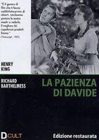 Dvd **LA PAZIENZA DI DAVIDE** Edizione Restaurata di Henry King nuovo 1921